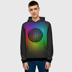 Толстовка-худи мужская Coldplay Colour цвета 3D-черный — фото 2