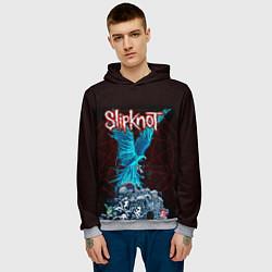 Толстовка-худи мужская Орел группа Slipknot цвета 3D-меланж — фото 2