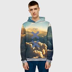 Толстовка-худи мужская The XX цвета 3D-меланж — фото 2