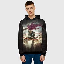Толстовка-худи мужская Darksiders Warrior цвета 3D-черный — фото 2