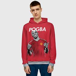 Толстовка-худи мужская FC MU: Pogba цвета 3D-меланж — фото 2