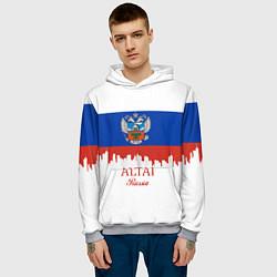 Толстовка-худи мужская Altai: Russia цвета 3D-меланж — фото 2