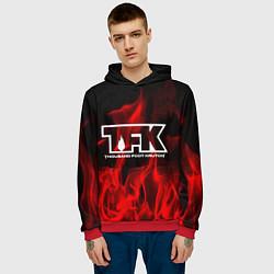 Толстовка-худи мужская Thousand Foot Krutch: Red Flame цвета 3D-красный — фото 2