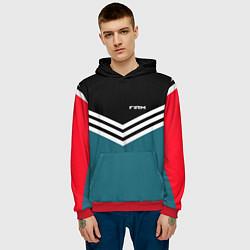 Толстовка-худи мужская Firm 90s: Arrows Style цвета 3D-красный — фото 2