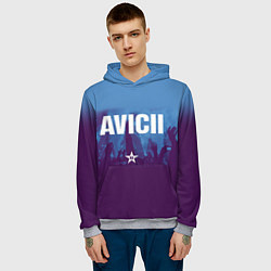 Толстовка-худи мужская Avicii Star цвета 3D-меланж — фото 2