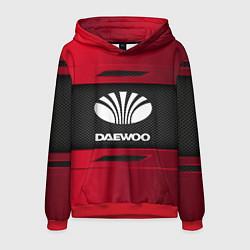 Толстовка-худи мужская Daewoo Sport цвета 3D-красный — фото 1