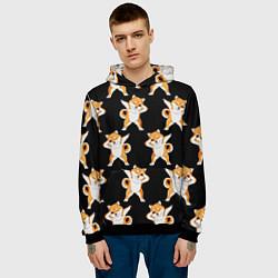 Толстовка-худи мужская Foxes Dab цвета 3D-черный — фото 2