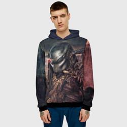 Толстовка-худи мужская Merciless Predator цвета 3D-черный — фото 2