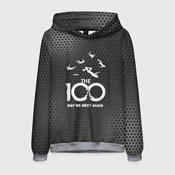 Толстовка-худи мужская The 100 цвета 3D-меланж — фото 1