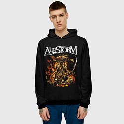 Толстовка-худи мужская Alestorm: Flame Warrior цвета 3D-черный — фото 2
