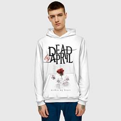 Толстовка-худи мужская Dead by April цвета 3D-белый — фото 2