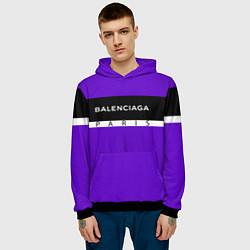 Толстовка-худи мужская Balenciaga: Violet Fashion цвета 3D-черный — фото 2