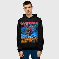 Толстовка-худи мужская Iron Maiden: Great Britain Warriors цвета 3D-черный — фото 2