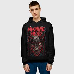 Толстовка-худи мужская Machine Head: Blooded Skull цвета 3D-черный — фото 2