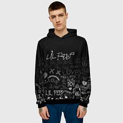 Толстовка-худи мужская LIL PEEP цвета 3D-черный — фото 2