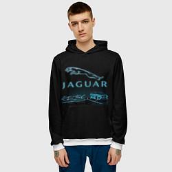Толстовка-худи мужская Jaguar цвета 3D-белый — фото 2