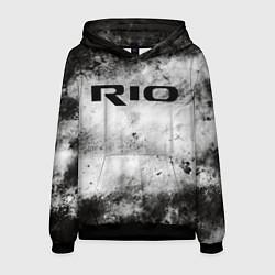 Толстовка-худи мужская KIA RIO цвета 3D-черный — фото 1