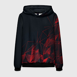Толстовка-худи мужская RED STRIPES цвета 3D-черный — фото 1