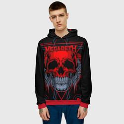 Толстовка-худи мужская Megadeth цвета 3D-красный — фото 2
