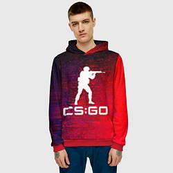 Толстовка-худи мужская CS GO КС ГО цвета 3D-красный — фото 2
