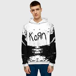 Толстовка-худи мужская Korn цвета 3D-белый — фото 2