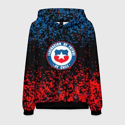 Толстовка-худи мужская Сборная Чили цвета 3D-черный — фото 1