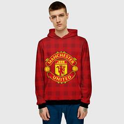 Толстовка-худи мужская Manchester United цвета 3D-черный — фото 2