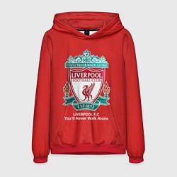 Толстовка-худи мужская Liverpool цвета 3D-красный — фото 1