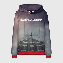 Толстовка-худи мужская Imagine Dragons: Night Visions цвета 3D-красный — фото 1