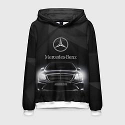Толстовка-худи мужская Mercedes цвета 3D-белый — фото 1