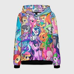 Толстовка-худи мужская My Little Pony цвета 3D-черный — фото 1