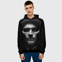 Толстовка-худи мужская Sons Of Anarchy цвета 3D-черный — фото 2