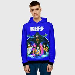 Толстовка-худи мужская Kiss Show цвета 3D-черный — фото 2