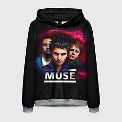 Толстовка-худи мужская Muse Band цвета 3D-меланж — фото 1