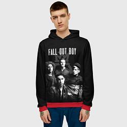 Толстовка-худи мужская Fall out boy band цвета 3D-красный — фото 2