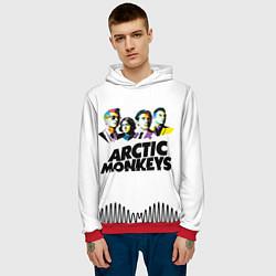 Толстовка-худи мужская Arctic Monkeys: Music Wave цвета 3D-красный — фото 2