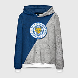 Толстовка-худи мужская Leicester City FC цвета 3D-белый — фото 1