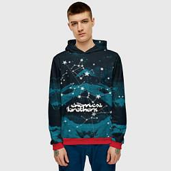Толстовка-худи мужская Chemical Brothers: Space цвета 3D-красный — фото 2