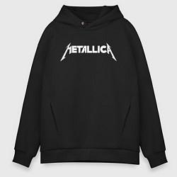 Толстовка оверсайз мужская Metallica цвета черный — фото 1