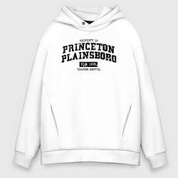 Толстовка оверсайз мужская Princeton Plainsboro цвета белый — фото 1