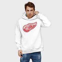 Толстовка оверсайз мужская Detroit Red Wings цвета белый — фото 2