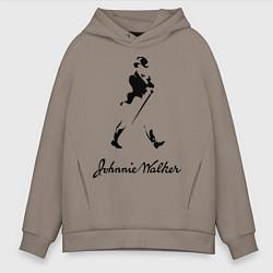 Толстовка оверсайз мужская Johnnie Walker цвета утренний латте — фото 1