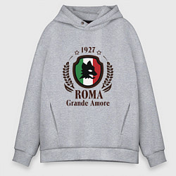 Толстовка оверсайз мужская AS Roma: Grande Amore цвета меланж — фото 1