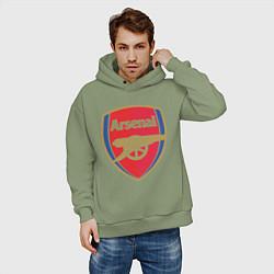 Толстовка оверсайз мужская Arsenal FC цвета авокадо — фото 2