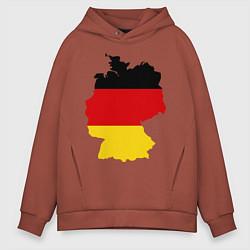 Толстовка оверсайз мужская Германия (Germany) цвета кирпичный — фото 1
