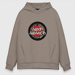 Толстовка оверсайз мужская Amon Amarth: Rune цвета утренний латте — фото 1