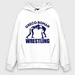 Толстовка оверсайз мужская Greco-roman wrestling цвета белый — фото 1