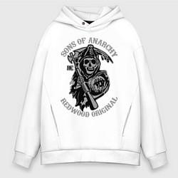 Толстовка оверсайз мужская Sons of Anarchy: Redwood Original цвета белый — фото 1