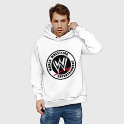 Толстовка оверсайз мужская World wrestling entertainment цвета белый — фото 2