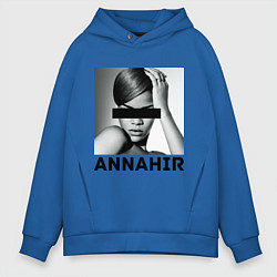 Толстовка оверсайз мужская Rihanna цвета синий — фото 1